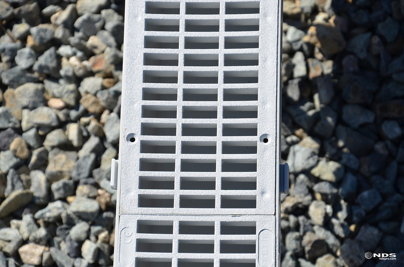 """3"""" Pro Series Channel Drain - In Use"""