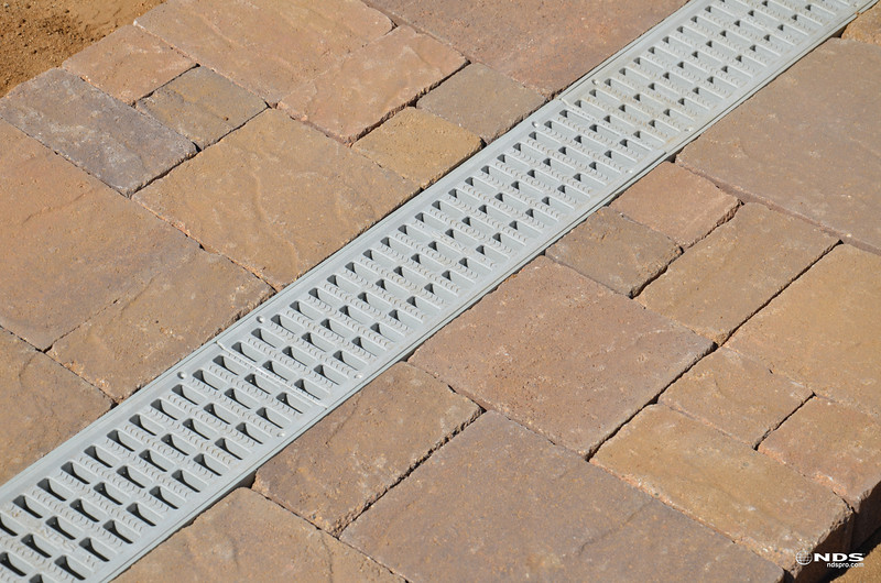 """5"""" Pro Series Channel Drain - In Use"""
