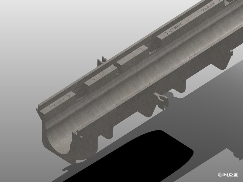 Dura Slope Trench Drain - 3D Renders