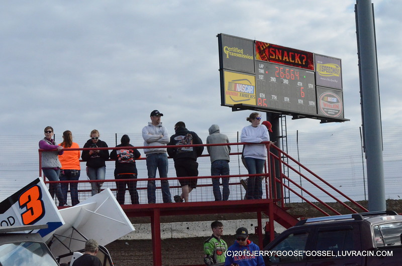 NEW PIT STANDS AND SCORE BOARD I-80