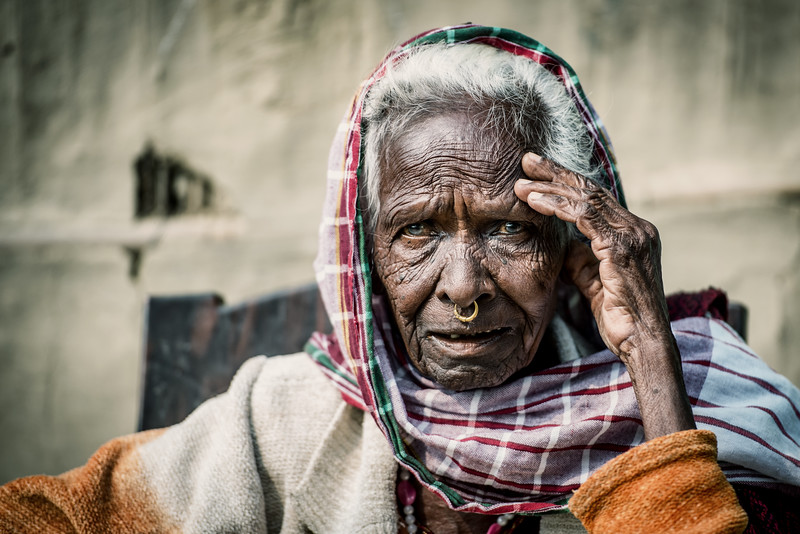 Old woman of Assam