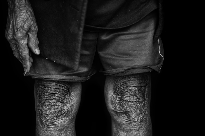 Knees of a tribesman