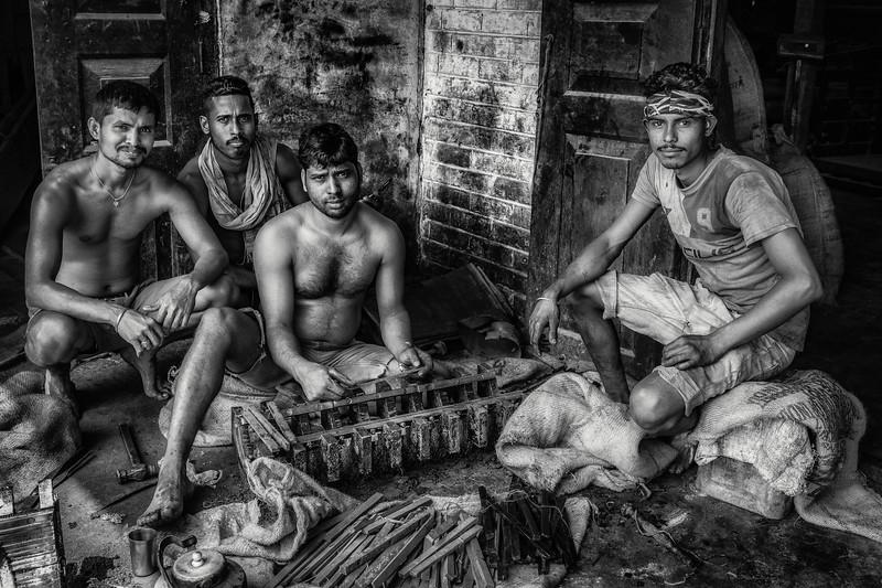 Millet seed men at work, Majuli