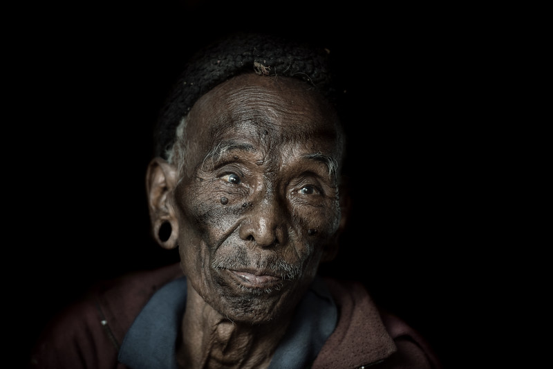 An old Konyak tribesman