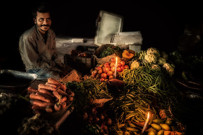 Vegetables at night