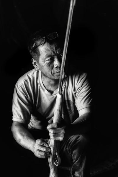 Musket maker, Longwa, Nagaland
