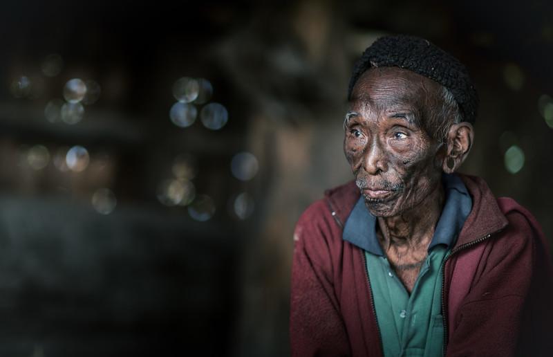 Portrait of a Konyak elder