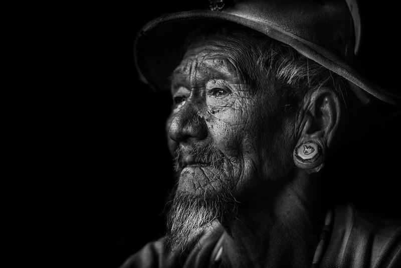 Old man of the Konyak, Nagaland