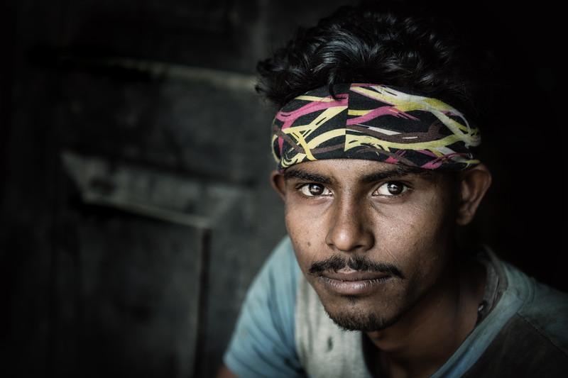 Portrait of a oil seed worker