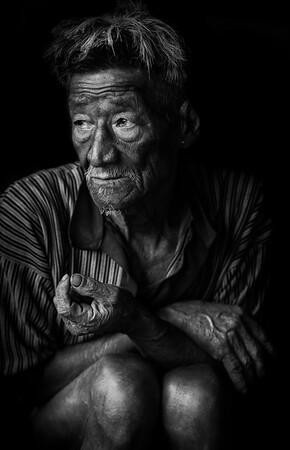 Tattooed elder, Konyak tribe