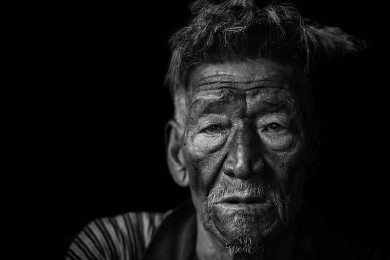Konyak portrait, Nagaland
