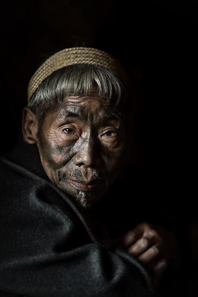 Old Konyak tribesman