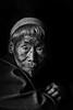 Old Konyak tribesman, Hongphui