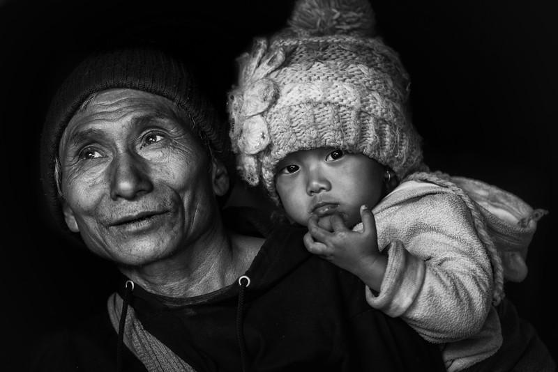 My grand-daughter, Konyak tribe