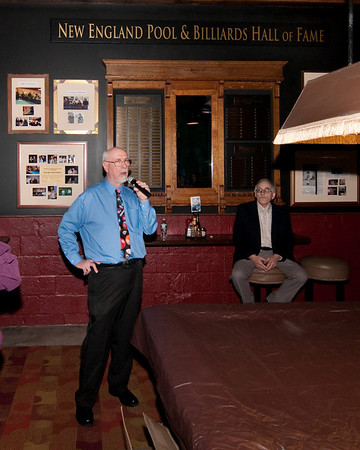 Tom McGonagle & the New England Pool & Billiards wall of fame
