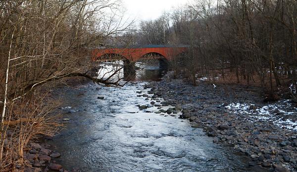 Covered bridge in Bucks County, PA.