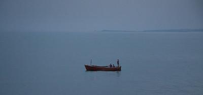 Evening falls on Raritan Bay.