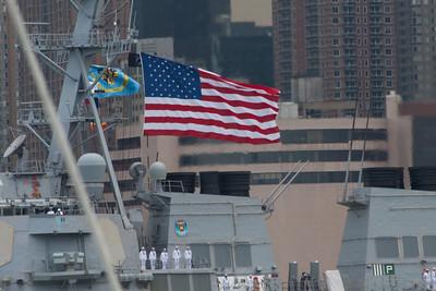 USS Mitscher (DDG-57) -  Fleet Week in the Hudson River in NYC