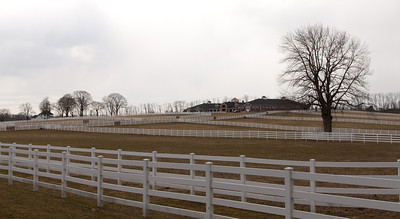 A nearby horse farm. Taken in winter, so the grass is brown.