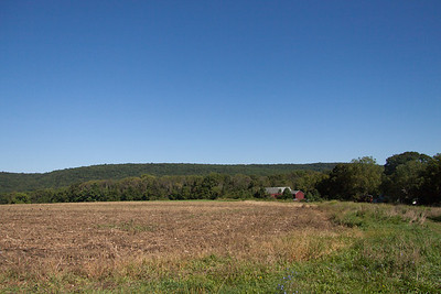 Long Valley, NJ farm field with Schooley's Mountain in the background.
