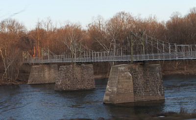 Footbridge over the Delaware.