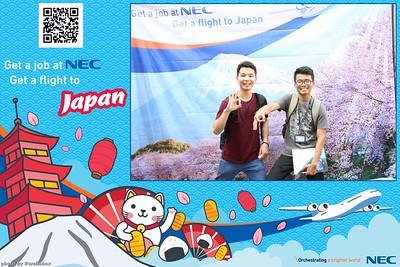 NEC Vietnam Job Fair 2018 Photo Booth by WefieBox