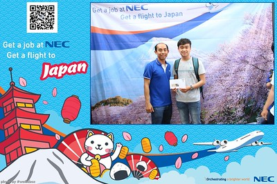 NEC Vietnam Job Fair 2018 Photo Booth by WefieBox