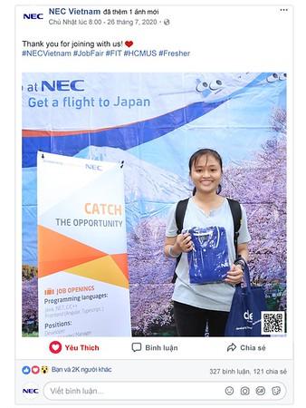 NEC Vietnam   instant print photo booth @ Job Fair 2020 - FIT.HCMUS   Chụp hình in ảnh lấy liền Sự kiện tại TP Hồ Chí Minh   Photobooth Saigon