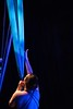 KELLY FLETCHER, REFORMER CORRESPONDENT -- NECCA co- founder, Elsie Smith, at the start of her aerial hammock performance during the 10th annual Circus Spectacular fundraising show Friday night at the Latchis Theater.