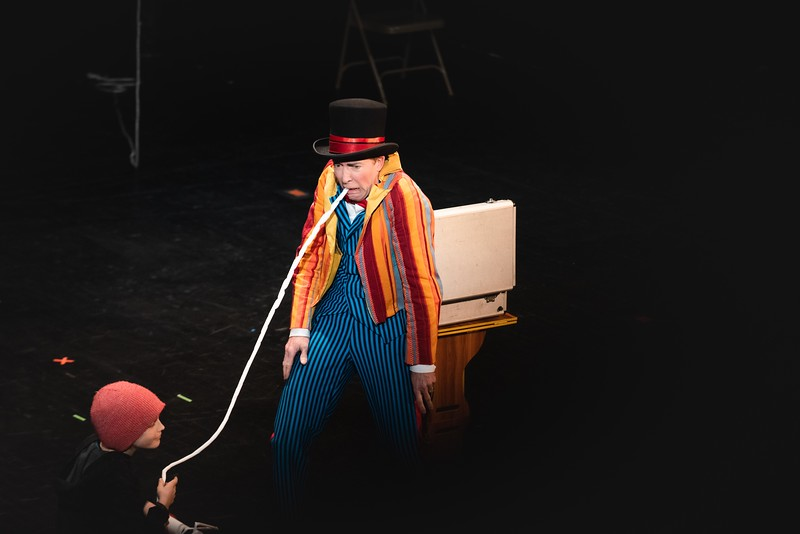 KELLY FLETCHER, REFORMER CORRESPONDENT -- With the aid of his assistant, Desi, Troy Wunderle entertains the audience with magic and illusion during NECCA's 10th annual Circus Spectacular fundraising show at Latchis Theater on Friday night.
