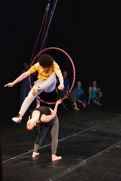 "KELLY FLETCHER, REFORMER CORRESPONDENT --""The future of the circus"" (members of the advanced youth performance troupe) perform in the opening of  NECCA's 10th annual Circus Spectacular fundraising show at Latchis Theater Friday night."