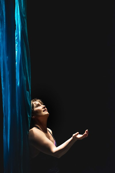 KELLY FLETCHER, REFORMER CORRESPONDENT -- NECCA co- founder, Elsie Smith, finishes her aerial hammock performance during the 10th annual Circus. Spectacular fundraising show at Latchis Theater on Friday night.