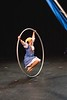 KELLY FLETCHER, REFORMER CORRESPONDENT -- Molly Gawler performs on the Cyr Wheel during NECCA's 10th annual Circus Spectacular fundraising show at Latchis Theater on Friday night.