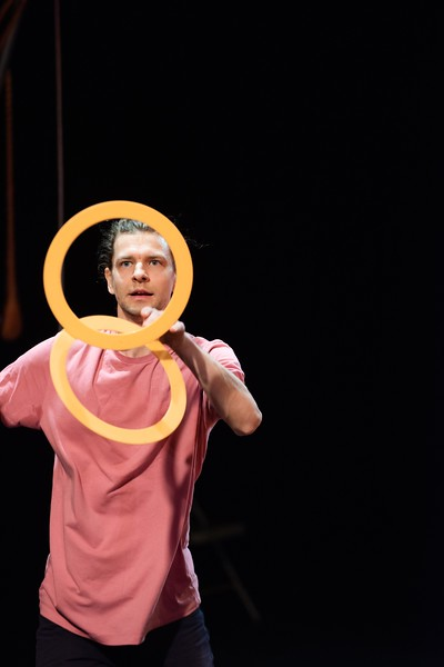 KELLY FLETCHER, REFORMER CORRESPONDENT -- Austin Smith performs a juggling act at NECCA's 10th annual Circus Spectacular fundraising show at Latchis  Theater Friday night.
