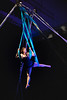 KELLY FLETCHER, REFORMER CORRESPONDENT -- NECCA co- founder, Elsie Smith, demonstrates her skills in an aerial hammock performance during the 10th annual Circus Spectacular fundraising show Friday night at the Latchis Theater.
