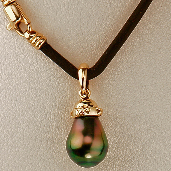 BLACK SOUTH SEA PEARLD 14K GOLD