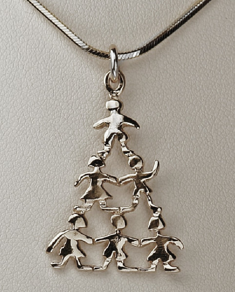 THE FAMILY TREE - WHITE 14K GOLD. THIS DESIGN CAN ALSO BECOME A PAIR OF EARRINGS!