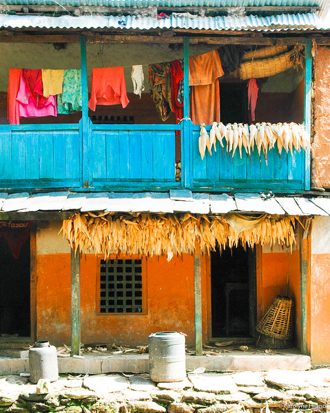 Laundry Drying<br /> Bandipur, Tanahu District