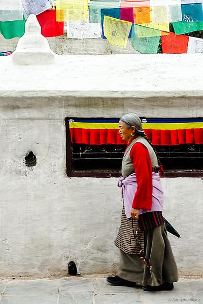 Daily Ritual Walk<br /> Stupa at Boudhanath<br /> Kathmandu Valley