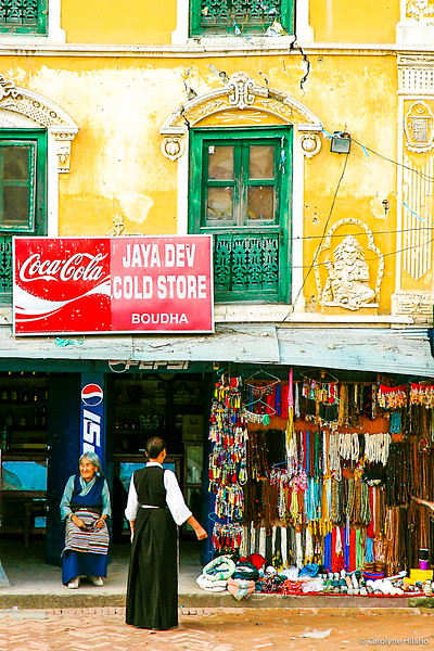 Shop near Boudhanath Buddhist Stupa<br /> Kathmandu Valley
