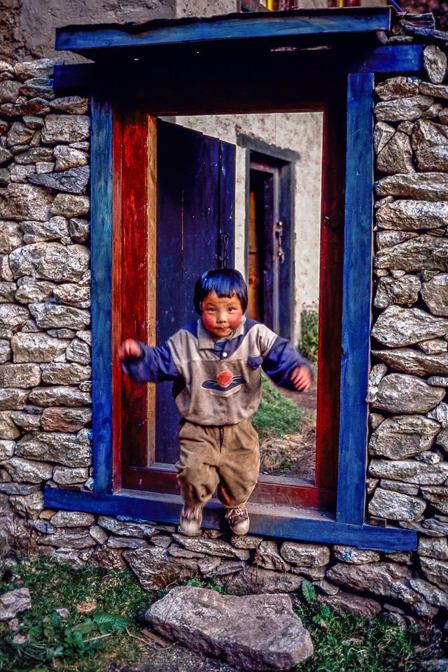 Boy Jumping, Khumbu