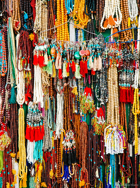 Prayer Beads<br /> Boudhanath Stupa<br /> Kathmandu Valley