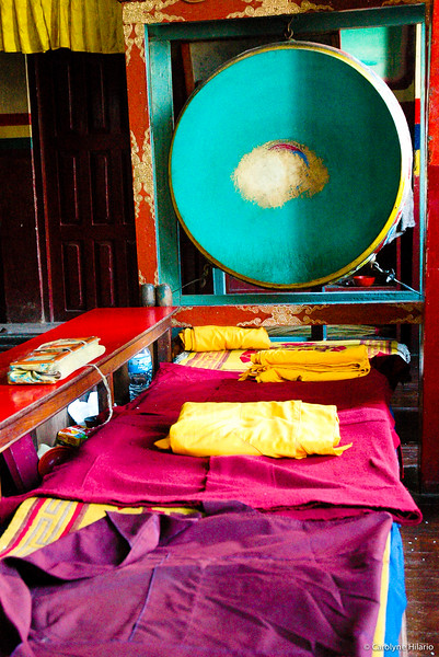 Monk Gompa Prayer Room <br /> Swayambhunath (aka Monkey Temple)<br /> Kathmandu Valley