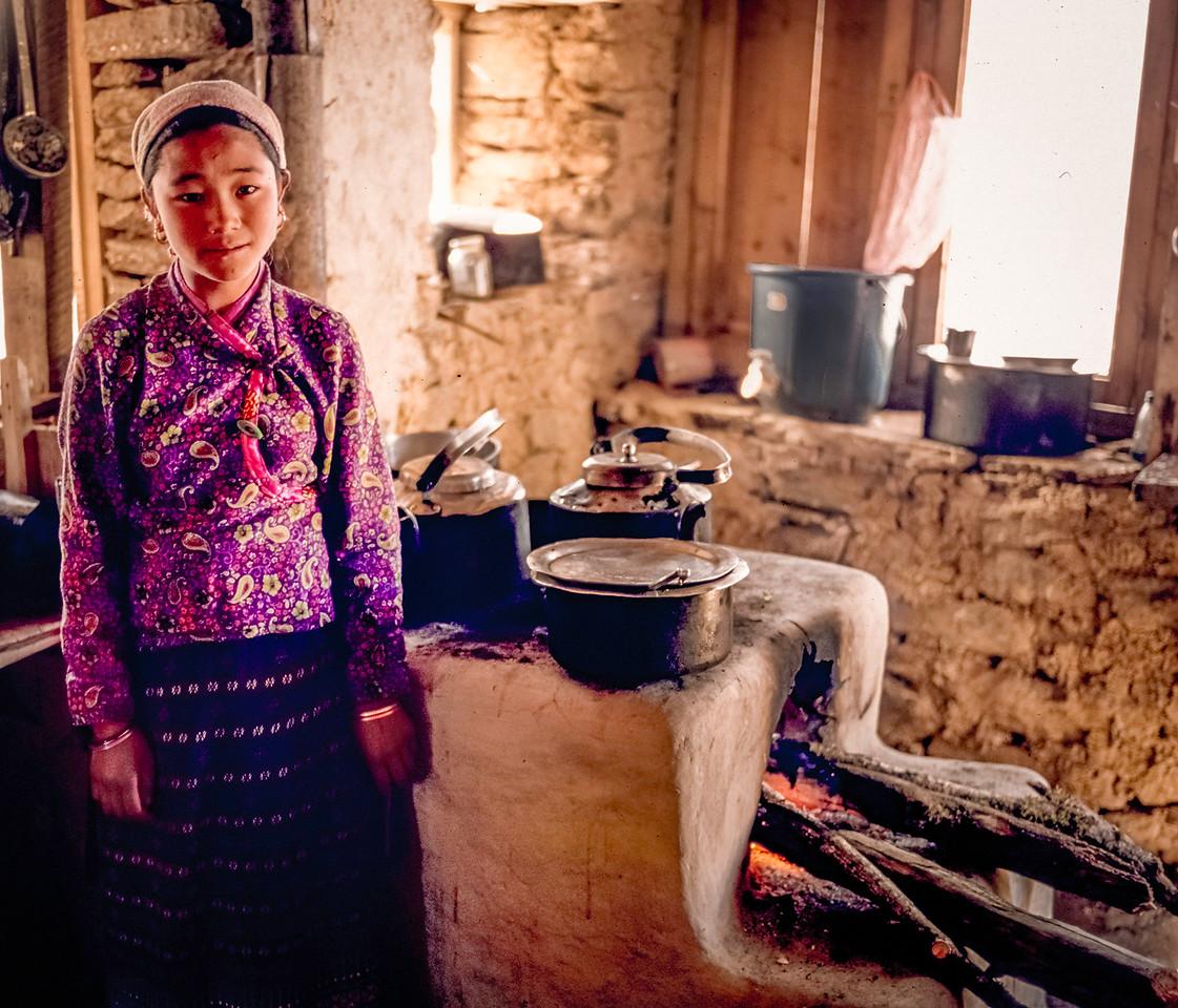 Girl in Kitchen, Langtang