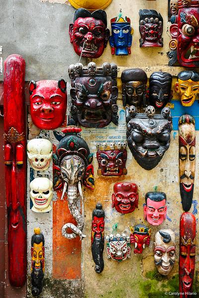 Masks for Sale<br /> Kathamandu