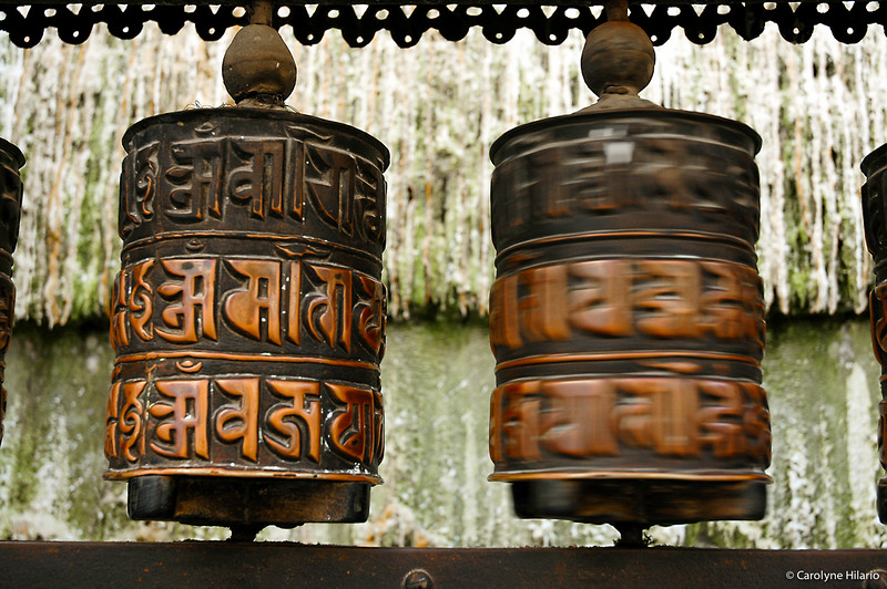 Prayer Wheels<br /> Stupa at Boudhanath<br /> Kathmandu Valley