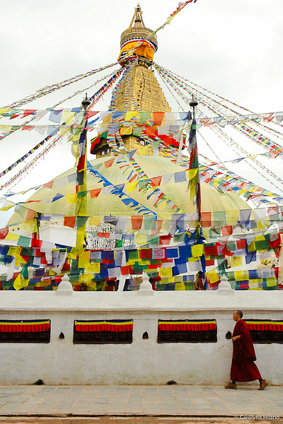 Ritual Prayer Walk Around Boudhanath<br /> Kathmandu Valley