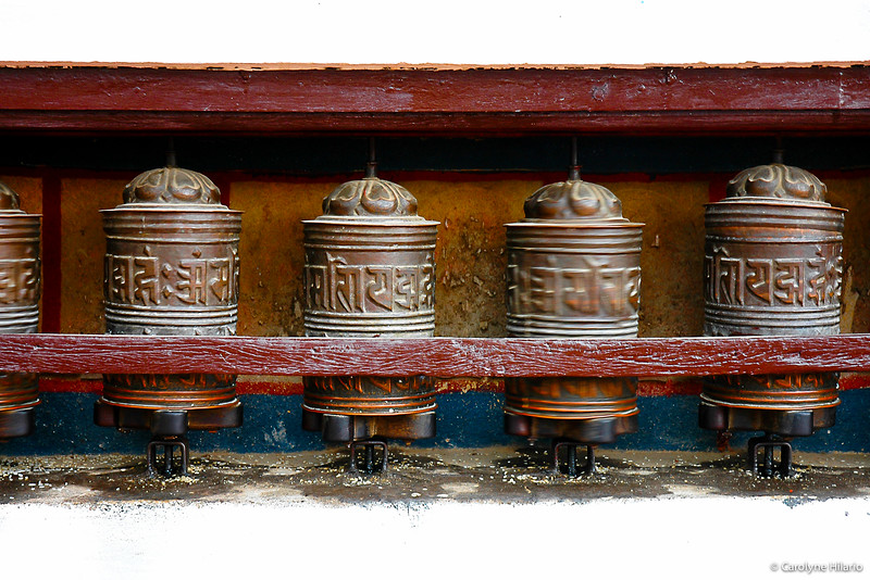 Prayer Wheels<br /> Boudhanath Buddhist Stupa<br /> Kathmandu Valley