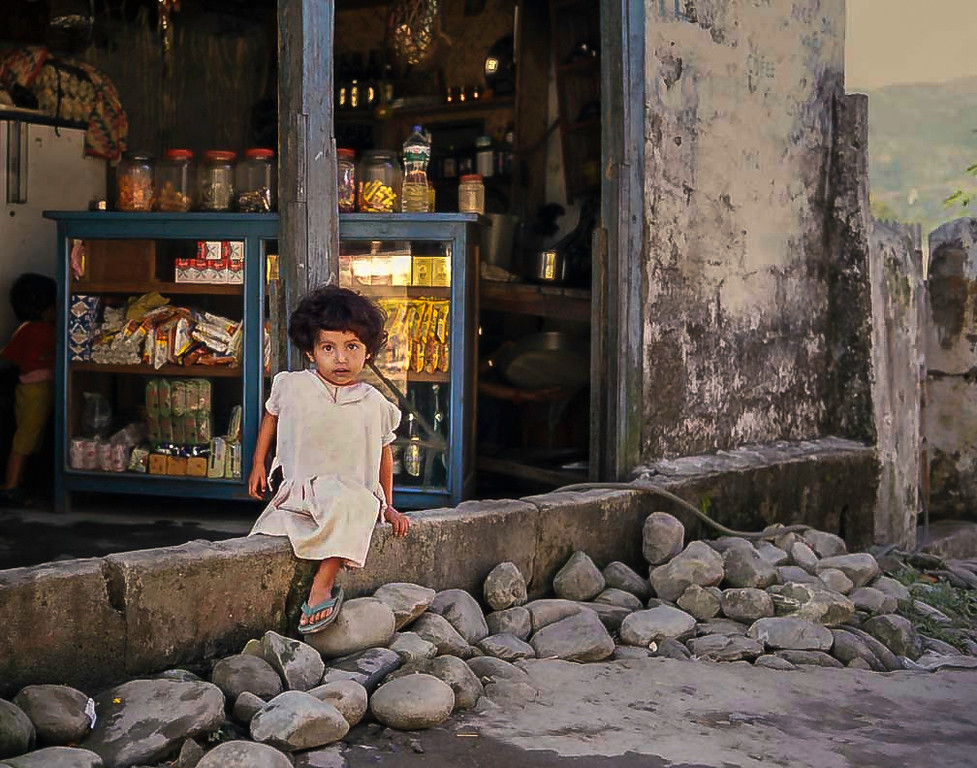 Girl in white dress, Pokhara