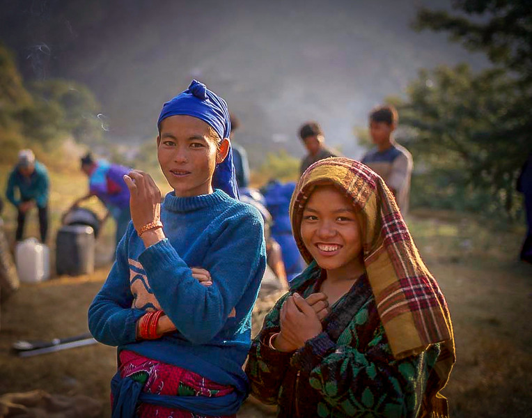 Sherpina girls, Khumbu